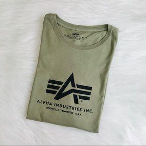 Alpha Industries Logo Oversized Tee Army Green